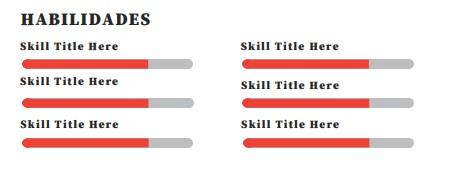 Sección habilidades - Plantilla de Currículum Concentrado