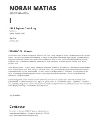 Cartas De Presentación Plantillas Curriculum