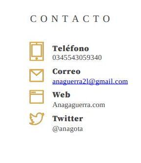 Datos de Contacto parte II- Currículum para relaciones públicas