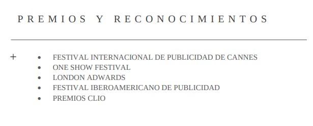Premios y reconocimientos currículum de relacionista público