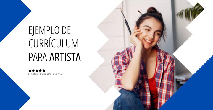 Ejemplo currículum para artista